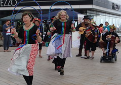 Hoop & Clogs Dancers (Lydie's) Tags: costumes ladies musicians ribbons mandolin accordions clogs hoops morrisdancers skirts wallasey wirral newbrighton prezzo clogdancers