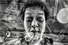 Smoking Kills (gurungbijaya88) Tags: portrait blackandwhite photoshop smoke wideangle smoking selfie canon6d