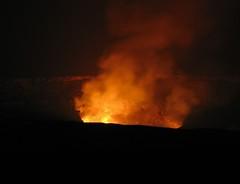 Halemaumau (Sea Moon) Tags: orange volcano lava glow smoke caldera summit firepit eruption kilauea molten gases