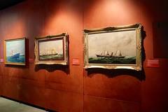 Tres cuadros (Oubeos) Tags: bilbao tres museo pintura cuadros exposicin martimo riadebilbao