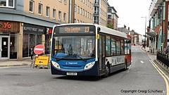 Stagecoach East Midlands Enviro 200 FX10AEV (36114) on St Mark Street, Lincoln, 18/06/2016 (Scatmancraig1974) Tags: fx10aev fx10 aev alexander dennis enviro 300 adl e300 stagecoach east midlands lincolnshire roadcar lincs road car lrcc 36114 single deck low floor bus slf st mark street marks lincoln craig schofield scatmancraig