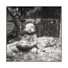 beggar  koyasan, kansai  2015 (lem's) Tags: statue japan rolleiflex temple beggar koyasan kansai japon planar mendiant
