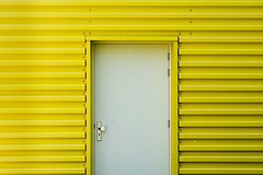 White door,  yellow wall (Jan van der Wolf) Tags: door building geometric lines yellow geometry minimal depthoffield minimalism geel minimalistic deur gebouw lijnen minimalisme minimlistic map156289v