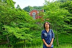 Naomi at Takinoue (sjrankin) Tags: family japan river hokkaido edited naomi hdr powerhouse yubari takinouepark yubaririver yubarikawa takinouekoen 24june2016