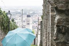 Conegliano (tia katty) Tags: street blue italy lamp rain umbrella landscape town treviso conegliano