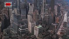 Downtown Manhattan skyline, New York. (cobravictor) Tags: skyline skyscrapers midtownmanhattan lowermanhattan downtownmanhattan newyorkcity ny aerial lights panorama oldpics vintagenewyork