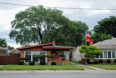 7721 S. Honorary Casimir Pulaski Way (Cragin Spring) Tags: city urban usa house chicago home architecture illinois midwest unitedstates unitedstatesofamerica chitown il driveway southside shrubs midcentury pulaski chicagoillinois chicagoil windycity ashburn