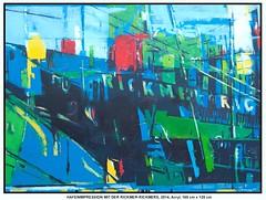 hafenimpression-mit-rickmer-rickmers (CHRISTIAN DAMERIUS - KUNSTGALERIE HAMBURG) Tags: hamburg container hafen elbe schiffe acryl schleswigholstein hafencity rapsfelder werke kunstgalerie bildergalerie landschaftsmalerei acrylmalerei auftragskunst auftragsmalerei galeriehamburg bilderwerkhamburg modernenorddeutschemalerei modernenorddeutschelandschaftsmalerei wermaltbilder