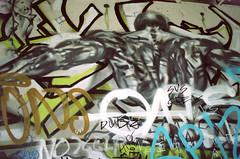 Baby's Got Back (Georgie_grrl) Tags: streetart toronto ontario art muscles illustration underpass graffiti back expression creative figure pentaxk1000 gardiner tagging rikenon12828mm springshootingshenanigans