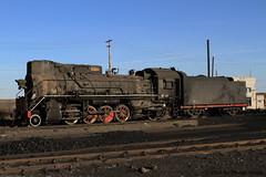 I_B_IMG_7397 (florian_grupp) Tags: china railroad train landscape asia mine desert muslim railway steam xinjiang mikado locomotive ore js steamlocomotive 282 opencastmine yamansu