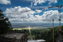 2016 Baustelle mit Aussicht (jeho75) Tags: sony ilce 7m2 zeiss deutschland germany kassel herkules krne baustelle building site himmel wolken sky clouds