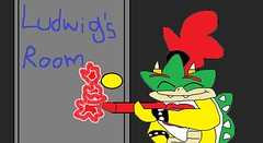 Bowser Jr Draws on Ludwig's Door (brittany8895) Tags: bowser nintendo super mario jr series 2016