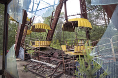 All aboard, Pripyat (Sean Hartwell Photography) Tags: abandoned broken glass rust fairground accident decay apocalypse radiation nuclear ukraine disaster ferriswheel radioactive rides 1986 funfair sovietunion ussr cccp fallout chernobyl 30years pripyat