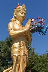 DUE_4575r (crobart) Tags: dedication statue ji golden vishnu hill ceremony richmond celebration idol hanuman unveiling hindu hinduism mandir bapu pujya morari