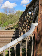 Old MR footbridge at Hallam Fields in Derbyshire (Lady Wulfrun) Tags: bridge crossing footbridge derbyshire tracks railway rails railways nottinghamshire midland hallamfields
