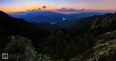 Sunset at Cozia Mountains (Mihai Sebastian Manole) Tags: travel light sunset mountain mountains color clouds creek canon river high rocks natural hiking altitude valley romania carpathians munti nori carpati apus olt carpathian munte rau valea 1635mm culori stanci oltului cozia culoare