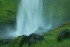 Abstract Waterfall (SandyK29) Tags: abstract green fall water oregon forest waterfall moss rocks experiment falls gorge lush columbiarivergorge shutterpriority elowah elowahfalls nikond800