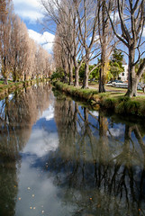 The Leaves Have Fallen (Jocey K) Tags: city autumn trees newzealand christchurch sky plants tree leaves architecture clouds reflections river shadows may nz cbd avon