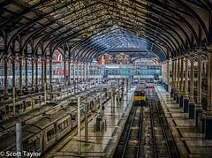Imminent Departure (Scrufftie) Tags: uk england london station train canon unitedkingdom railway hdr liverpoolstreetstation cityoflondon hdrpro canonpowershotg15