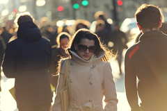 Close to you ([~Bryan~]) Tags: street uk light sunset england woman london sunglasses backlight candid streetphotography bondstreet closetoyou