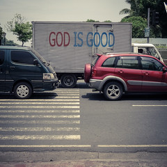 God is good (MastaBaba) Tags: street car truck traffic god philippines manila 20130602 bf:blogitem=5462 bf:date=20130602