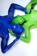 Body painters Sydney Australia (humanstatuebodyart) Tags: body painters sydney australia blue green oppositesattract nsw