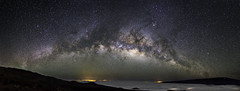 Milky Way Rising over Hilo (Bill Shupp) Tags: panorama night clouds stars volcano hawaii lava nightsky maunakea milkyway rokinon24mm