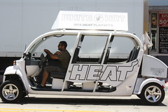 White Hot Transportation (Chuck Diesel) Tags: basketball miamibeach miamiheat 2013nbafinals