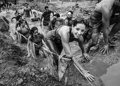 GR'NR - World's Longest Mud Pit (Conor F. Shine) Tags: bw public blackwhite run gladiator obstaclecourse mudrun rockn lakesideca gladiatorrocknrun dannitroclark