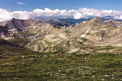 Mt. Belford Valley View (Shaun McCullough) Tags: colorado hiking climbing 14ers chaffeecounty mtbelford sawatchrange emeraldpeak magdalenemountain