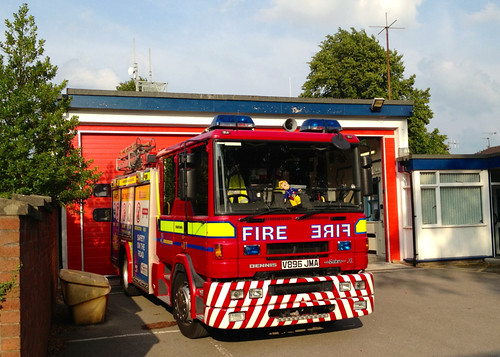 A proper British fire engine at Holmes Chapel fire station