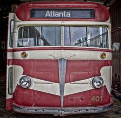 Old Atlanta Bus (Mark Chandler Photography) Tags: atlanta color colour bus colors car train canon ga georgia photography photo colours mail rail railway trains seats transportation 7d duluth southeasternrailwaymuseum markchandler