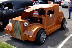 Wooden Car (NC Mountain Man) Tags: carshow wooden streetrod ncmountainman nikon d70s phixe custom customcar hotrod woody plywood redoak car lowresolutionversion