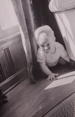 Crawling around the house, c. 1950 (lreed76) Tags: baby reed busy leon 1950s
