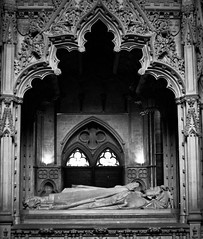 Ornate Death (Caroline '77) Tags: bw cathedral tomb lincolnshire