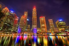Tour du lich kham pha Singapore 4 ngay| Anh ep Singapore (ductai1412) Tags: travel skyline reflections landscape singapore asia nightshot hdr highdynamicrange nightskyline photomatix michaelsteighner mdsimages dulichsingapore