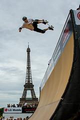 Skater (Pierre DANZAS) Tags: paris france jump eiffeltower skate toureiffel bigair xgame sries