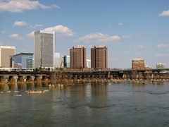 Richmond skyline (SchuminWeb) Tags: road plaza trestle bridge sky building tower water lines skyline buildings river t james virginia march high track ben district web towers norfolk tracks bridges skylines reserve bank rail front structure richmond system line southern va transportation highrise infrastructure belle riverfront roads mead rise isle federal infra structural rises banking highrises railroads rva westvaco csx federalreservebank federalreserve trestles meadwestvaco 2013 mwv federalreservesystem infrastructural schumin schuminweb