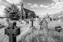 St Mary the Virgin Church (code poet) Tags: travel england church grave ir 350d kent cross unitedkingdom cemetary infrared 1022mm reculver stmarythevirgin