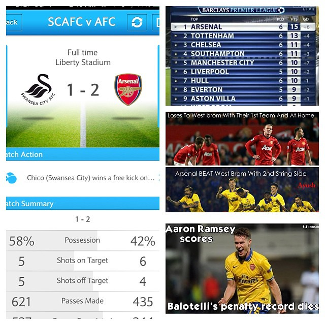 I cant see u haters???  #Arsenal win ❤️ #Gnebry 1st goal❤️ #Ramsey 8th goal❤️ cant stop scoring. Top of the table ❤️ Manuk lose❤️ Man shitty lose ❤️ Spuds draw  Chelshit draw. 8th straight win. #Gooners happy.  #epl#arsenal#coyg#afc#afctid#arsenalworld