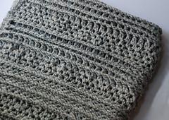 Crochet afghan blanket (kristibre) Tags: crochet gray blanket afghan etsy throw shellstitch crochetthrow poststitch postcrochetstitches