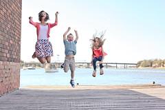 Trio (Serena178) Tags: family sisters fun happy three jump odc odc2 slidersunday triotriplethree