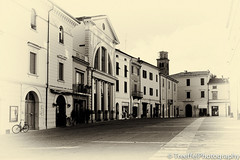 A stroll in the past (treeffe2000) Tags: vintage piazza past emiliaromagna imola silverefex2 x100s