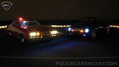 Starsky and Hutch Gran Torino 1/18 Working Lights (PoliceCarDiecast.com) Tags: red torino lights working led replica gran hutch beacon starsky 118