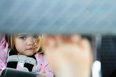 November 28 : Unamused (RachelBrandtPhotography) Tags: road trip baby girl car foot toddler child roadtrip carseat babygirl cartrip unamused