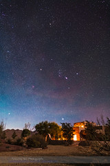 Orion Pointer Stars over Adobe House (New Mexico) (Amazing Sky Photography) Tags: canada newmexico nightscape adobe sirius orion moonlight taurus canismajor constellation aldebaran procyon hyades canisminor pointerstars swordoforion beltoforion paintedponyresort