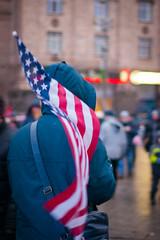Kyiv, Euro Maidan 2013 (Oleksii Leonov) Tags: people 50mm flag americanflag ukraine kyiv maidan sal50f14 700 euromaidan