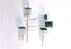 LBDMLCRDC avec equerre  ( 2002 ), plexy, inox, peinture. (emmanuelviard75) Tags: films bois mobilit inox plexy