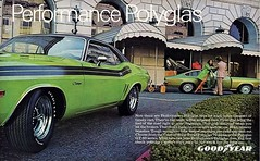 1971 Dodge Challenger Goodyear ad (Rickster G) Tags: car ads se 1971 flyer muscle literature 70s dodge pace 1970 hemi mopar sales 1972 brochure ta 440 1973 rt sixpack challenger goodyear rallye dealer 340 426 383 chally ebody scatpack