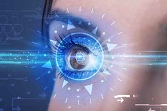 Cyber girl with technolgy eye looking into blue iris (helene.ebach) Tags: blue iris eye girl look lines closeup illustration danger digital computer grid focus technology close view graphic display watch interface guard security science scan system business identity vision human future laser data access secure concept identification scanning electronic visual recognition information protection viewing identify futuristic cyberspace cyber sensor password biometric mednamic